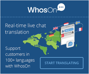 Real-time live chat translation, Support customers in 100+ languages with WhosOn