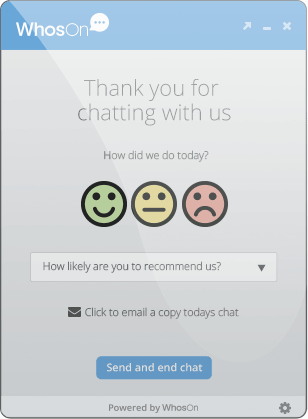 Sentiment analysis - WhosOn live chat