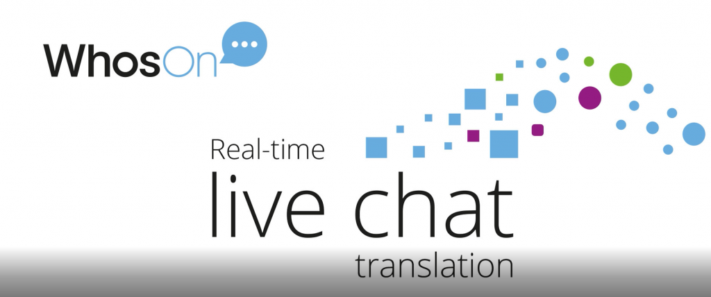 WhosOn real-time live chat translation