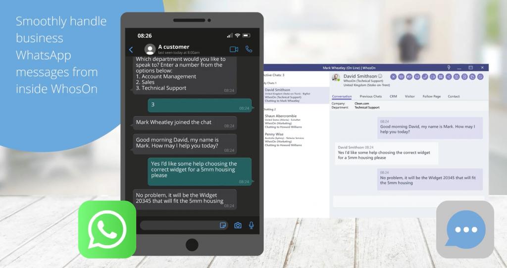 WhosOn feature highlight: WhatsApp integration